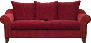 Reese Chenille Sofa - Red The Brick