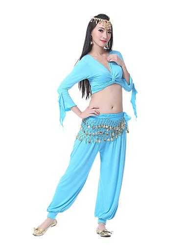 light blue dance costumes dancewear polyester belly dancer costume for ladies 810916
