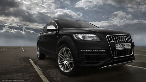 Audi Q7 Hd Picture by Wallpaper Audi Audi Q7 Black Free Desktop