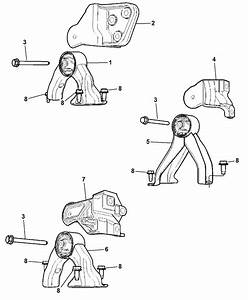 2007 Jeep Compass Torque Support  Rear