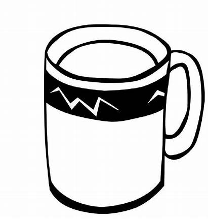 Coloring Coffee Pages Clipart Drinks Tea Colouring