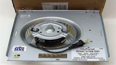 Bath Fan Upgrade Kit Model Ec60kit by Nutone 0695b000 Motor Assembly For Qt80 Series Fans