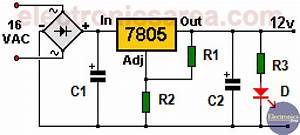Variable Power Supply Circuit Diagram Using 7805