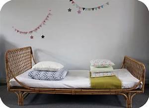 Lit Enfant Rotin : lit osier ann es 60 motifs croisillons l 39 atelier du petit parc ~ Teatrodelosmanantiales.com Idées de Décoration