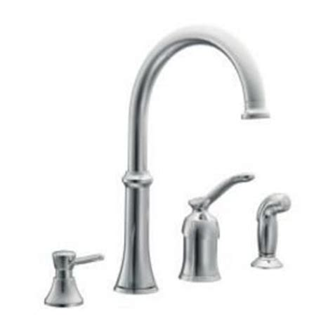 Quinn Kitchen Faucet by Moen Quinn Chrome Kitchen Faucet With Side Spray 87845
