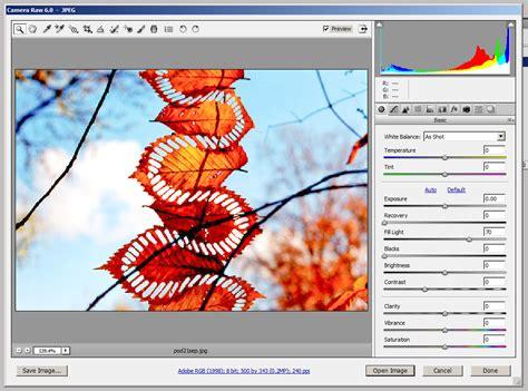 acr   open jpeg images  adobe camera raw apn