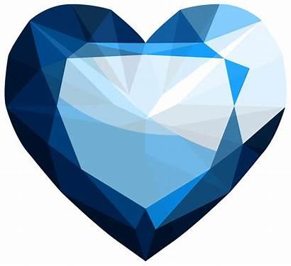 Sapphire Heart Clipart Transparent Gem Gems Gemstone