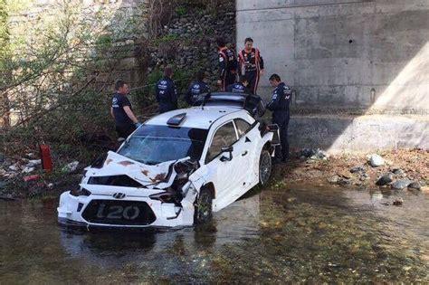 hyundai crashes  river  wrc testing speedcafe