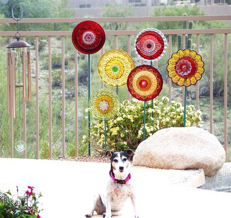 Cyber Monday Sale Red Garden Art Decor Vintage Glass Flower