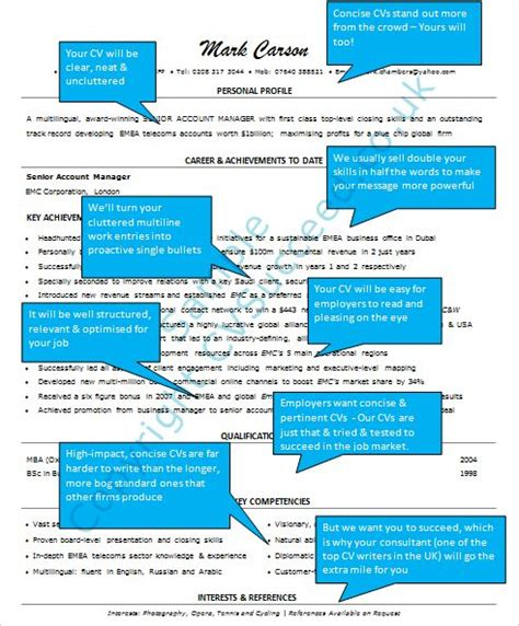 personal statement tips cv