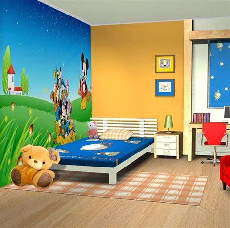 cartoon bedroom decoration   start building