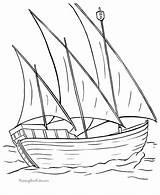 Coloring Pages Boats Ship Boat Nina Sailboat Printable Columbus Colouring Drawing Sail Clipart Cliparts Sailing Easy Drawings Clip Printing Very sketch template