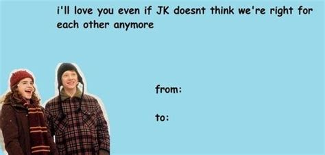 Harry Potter Valentines Meme - for the hermione ron shipper hermione harry potter and fandom