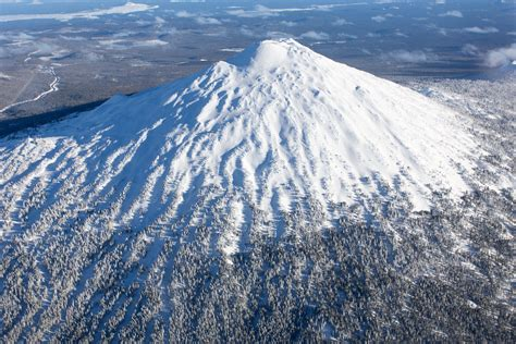 Mt Bachelor Aerial Photography - Bend Oregon Stock Photography