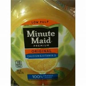 Minute Maid Orange Juice, Original, Low Pulp, Calcium ...