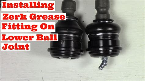 Installing Zerk Grease Fitting On Lower Ball Joint Testing