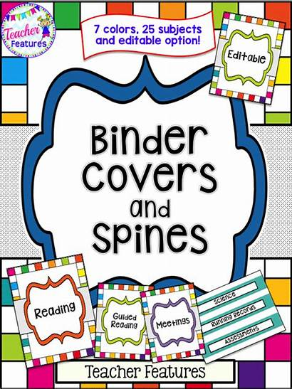 Binder Science Editable Covers Label Clipart Spine