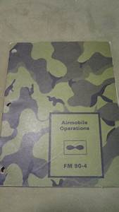 Vintage Department Of Army Manual  U0026quot Airmobile Operations