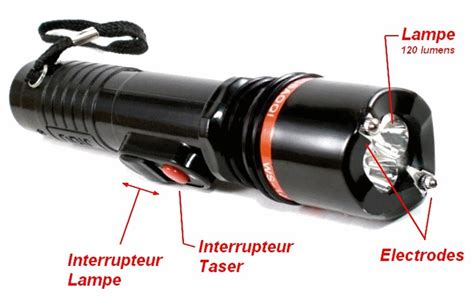 shocker taser 233 lectrique le torche 2 500 000 volts