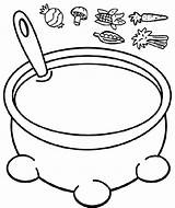 Soup Esau Jacob Coloring Stew Pot Craft Preschool Bible Crafts Sunday Vegetable Bowl Growing Story Activities Lessons Template Stone Spoon sketch template