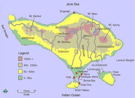 detail location map  mount agung bali  visitor bali