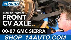How To Install Replace Front Axle Cv Joint Chevy Silverado