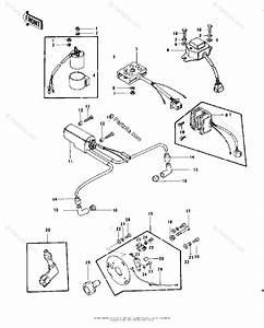 Kawasaki Motorcycle 1977 Oem Parts Diagram For Ignition