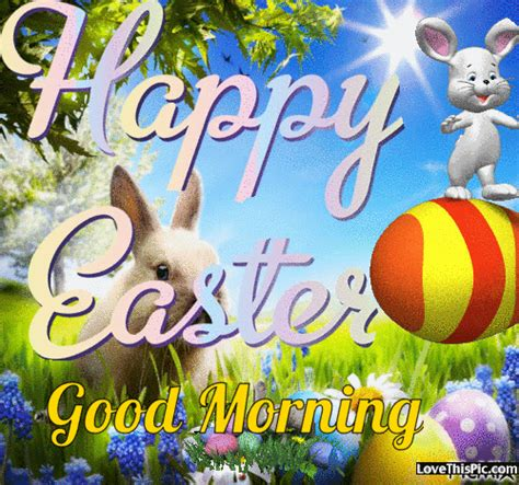 animated bunny happy easter good morning gif quote