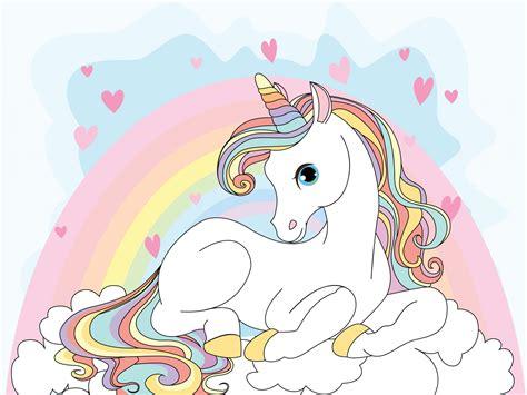 wallpaper unicorn girly rainbow hd  creative