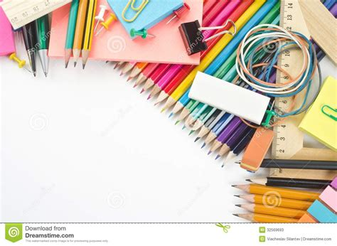 fournitures scolaires  stock image