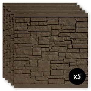 simtek  ft   ft ecostone dark brown composite fence panel pack fpxedbr  home depot