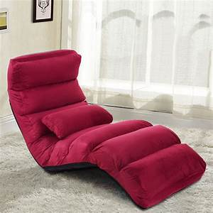 Folding, Lazy, Sofa, Chair, Stylish, Sofa, Couch, Bed, Lounge, Chair, W, Pillow, Burgundy
