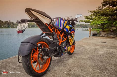 Ktm Rc 200 Modification by Ktm Rc200 With Abstract Stickers Mod Modifiedx