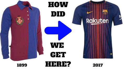 Barcelona Kit History The Curious History Of The Fc Barcelona Jersey Youtube
