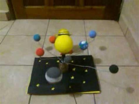 maqueta del sistema solar movil youtube
