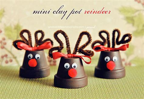 Little Reindeers Made Out Of Mini Clay Pots. These Could Independent Kitchen Design Small Cabinet Ideas Euro Free Software Uk L Shaped Layout Different Types Of Designs Designer Pictures Principles