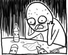 Depressed Drinking Meme - overconfident alcoholic know your meme