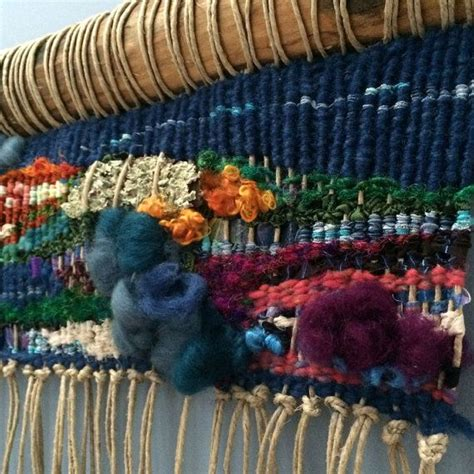 picturesque upcycled woven wall hanging