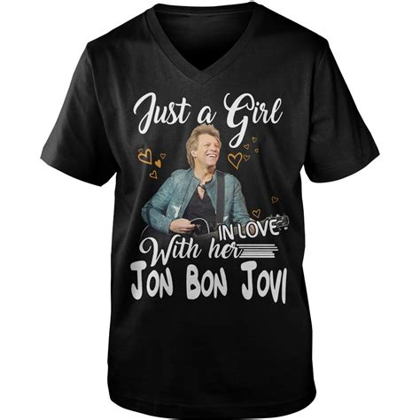 Official Jon Bon Jovi Just Girl With Her Shirt Sweater