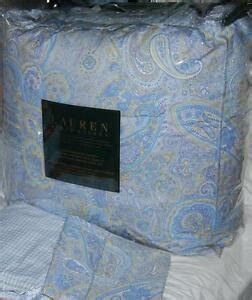 ralph lauren coral beach ralph coral blue paisley comforter set new 1st quality ebay