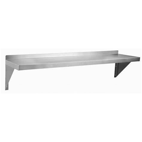 stainless wall shelf atlantic metalworks ws 1236 e stainless steel wall