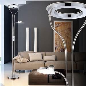 Büro Stehlampe Led : 22 5w led decken fluter leselampe drehbar chrom stehlampe wohnzimmer diele b ro ebay ~ Markanthonyermac.com Haus und Dekorationen