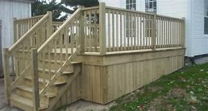stunning rampe en bois traite images joshkrajcikus With modele escalier exterieur terrasse 14 escalier escamotable