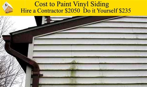 cost to paint vinyl siding