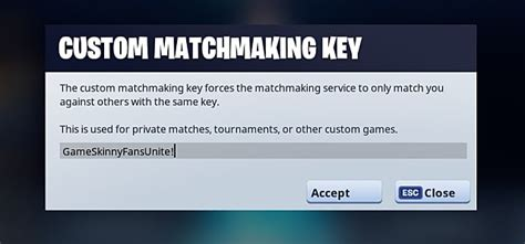 fortnite custom matchmaking key fortnite