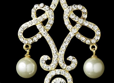 pearl chandelier earrings majestic austrian pearl chandelier earrings