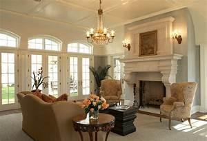 Säulen Fürs Wohnzimmer : 15 traditionelle wohnzimmer mit kassettendecken ~ Sanjose-hotels-ca.com Haus und Dekorationen