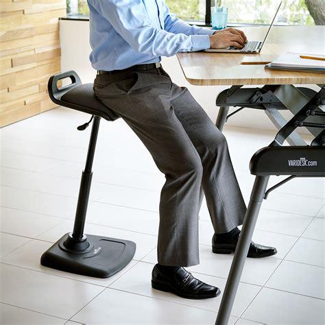 stand up desk stool shop standing desk products varidesk sit to stand desks