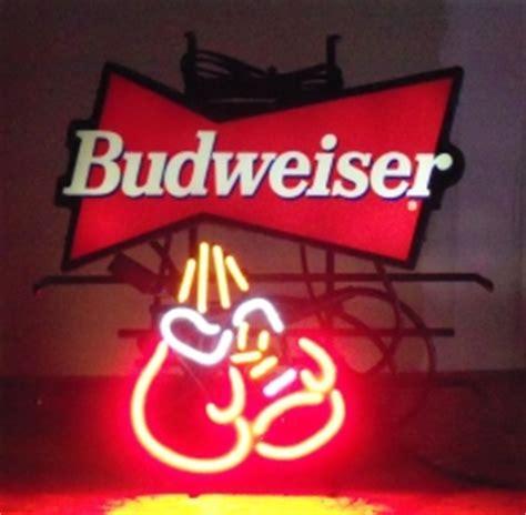 budweiser red light for sale budweiser boxing gloves neon beer bar sign light