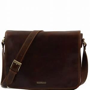 Sac Bandoulière Cuir Marron : sac besace messenger cuir homme tuscany leather ~ Melissatoandfro.com Idées de Décoration